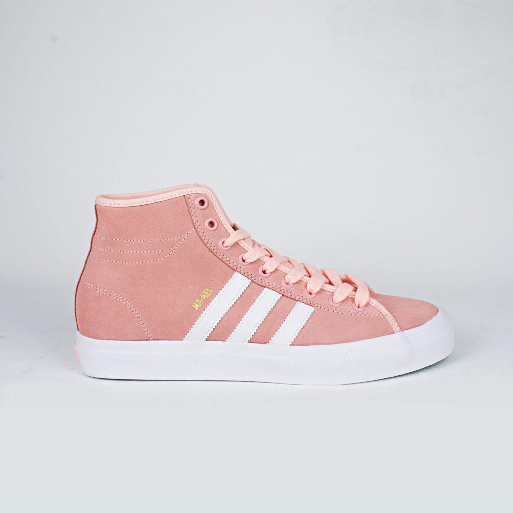 adidas nakel smith matchcourt rx peach side