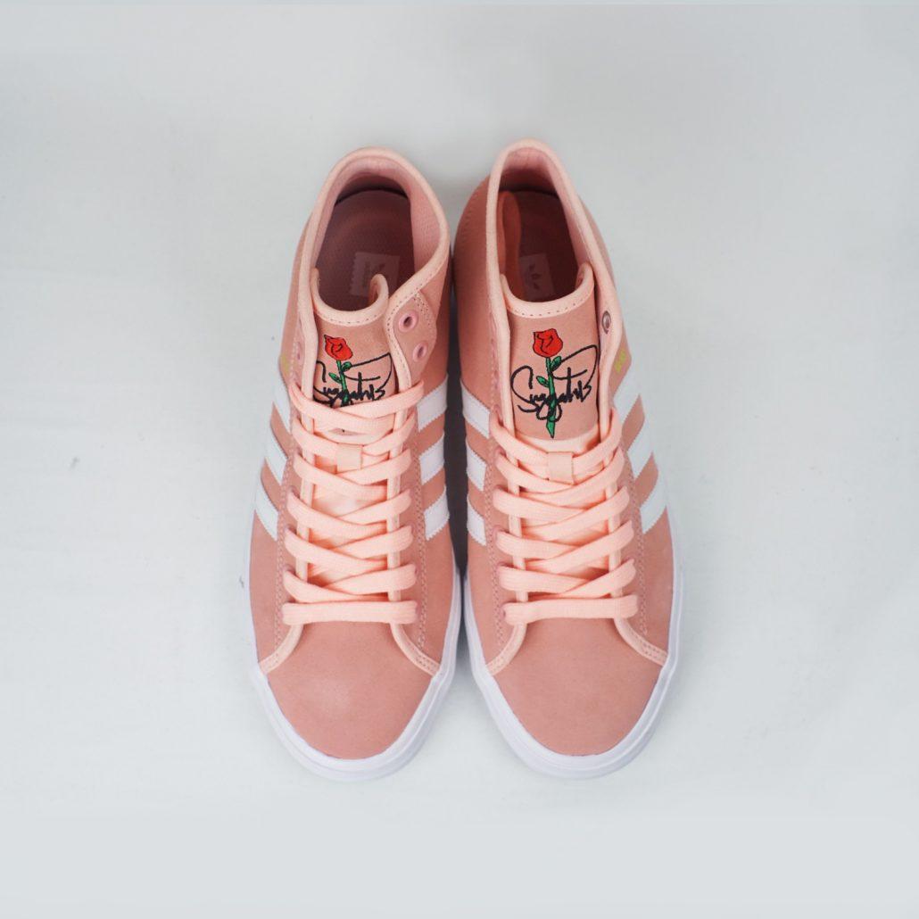 adidas nakel smith matchcourt rx peach top