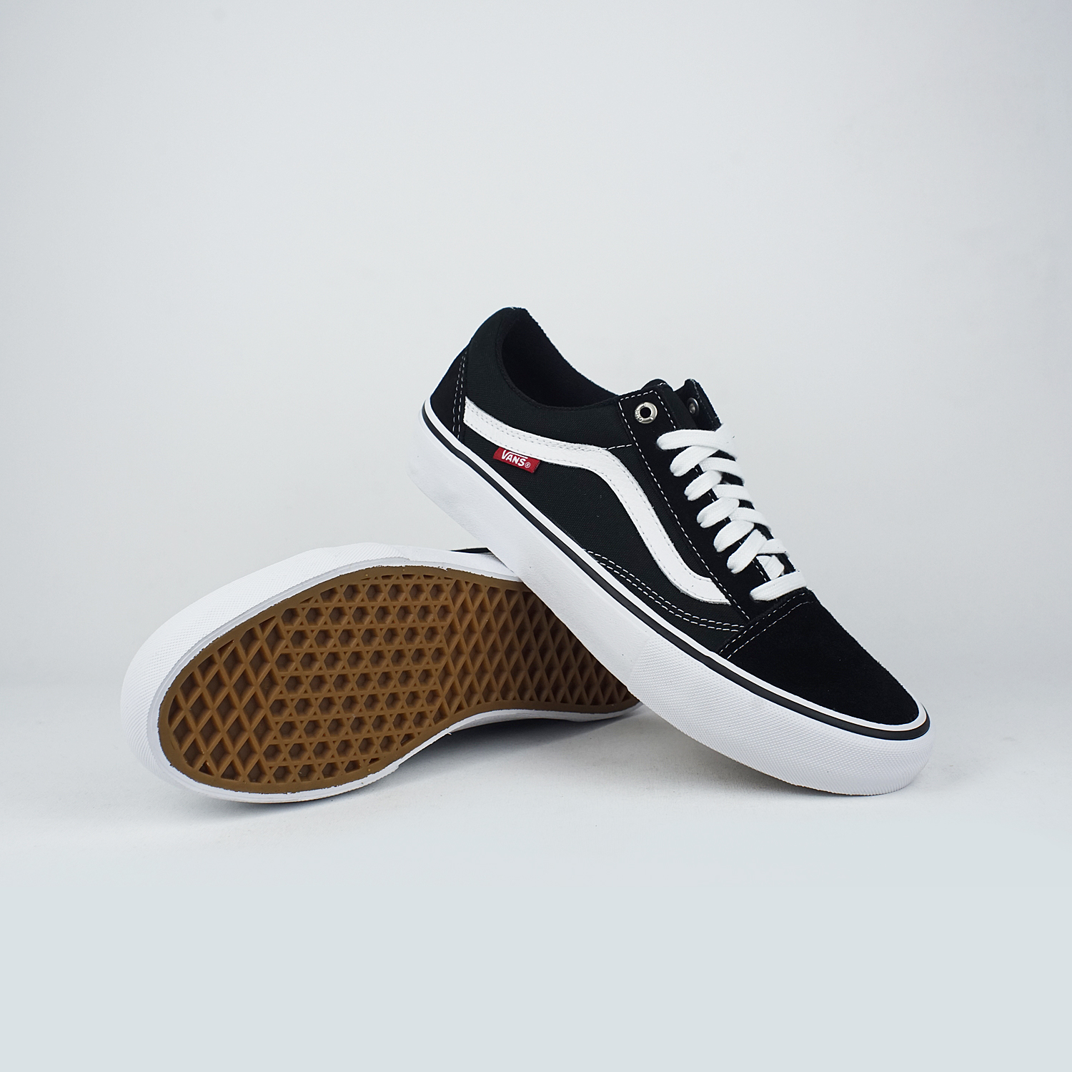 Vans Old Skool Pro, Black White, 10