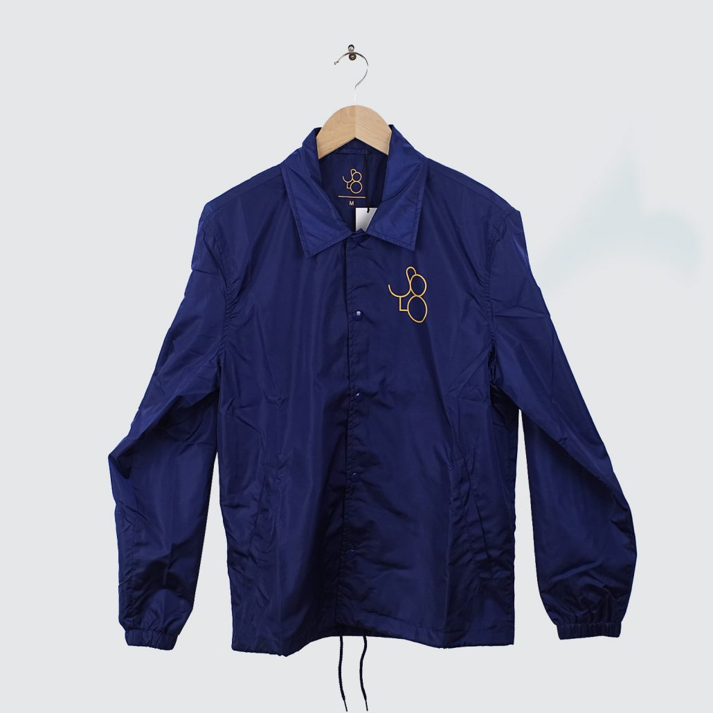 Solo-Skateboard-Magazine-Coach-Jacket-Navy