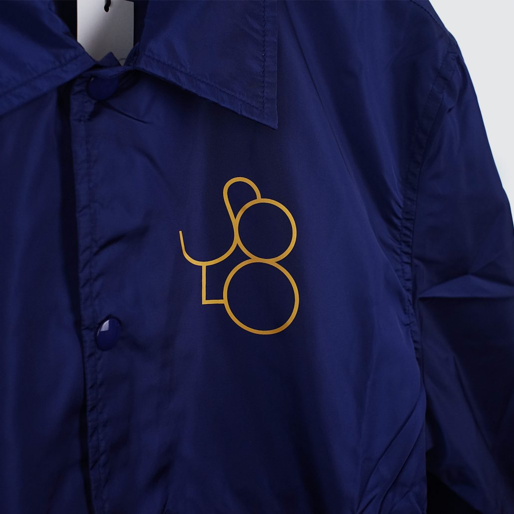 Solo Skateboard Magazine Coach Jacket Navy Detail