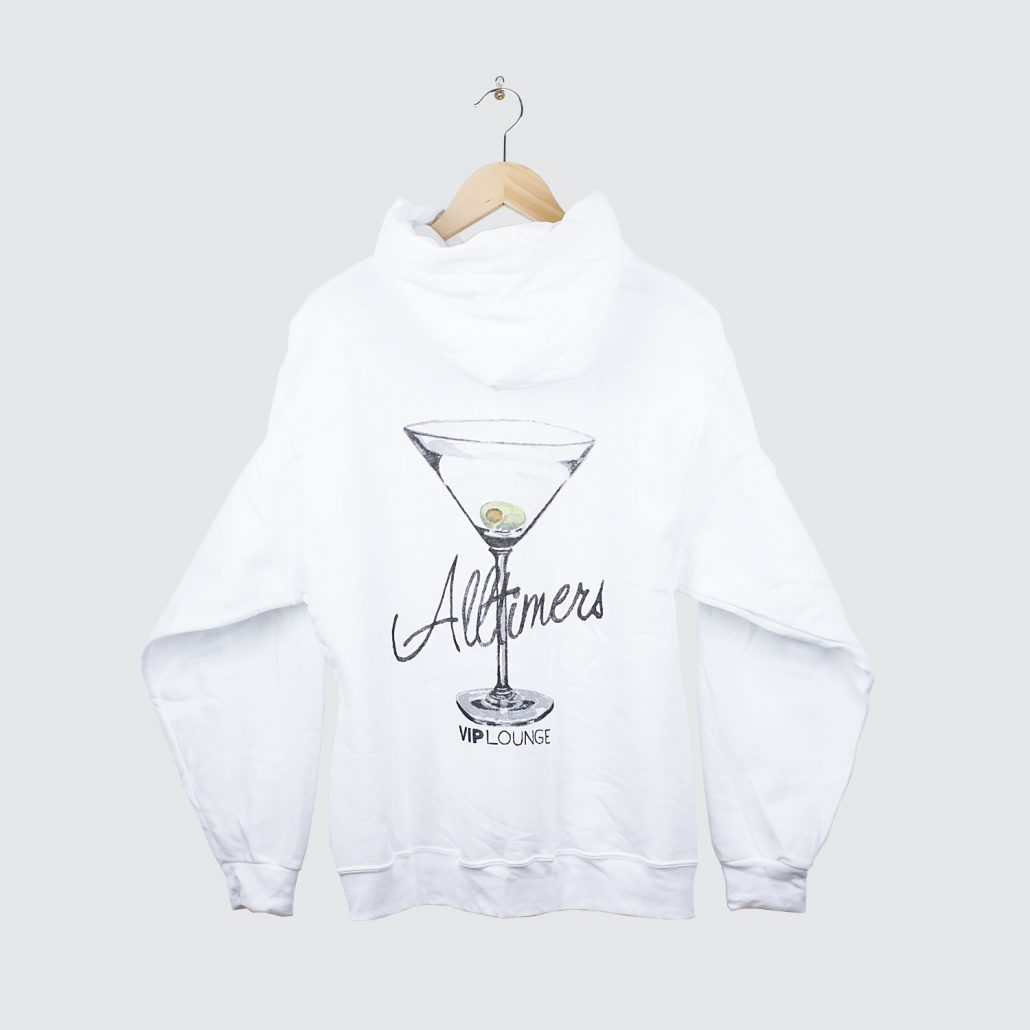 Alltimers Watercolor Logo Hoody White Back