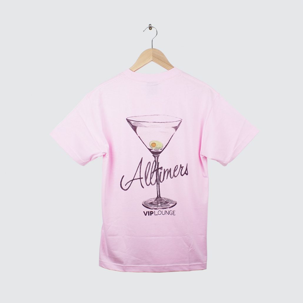 Alltimers Water color Logo Tee Pink Back