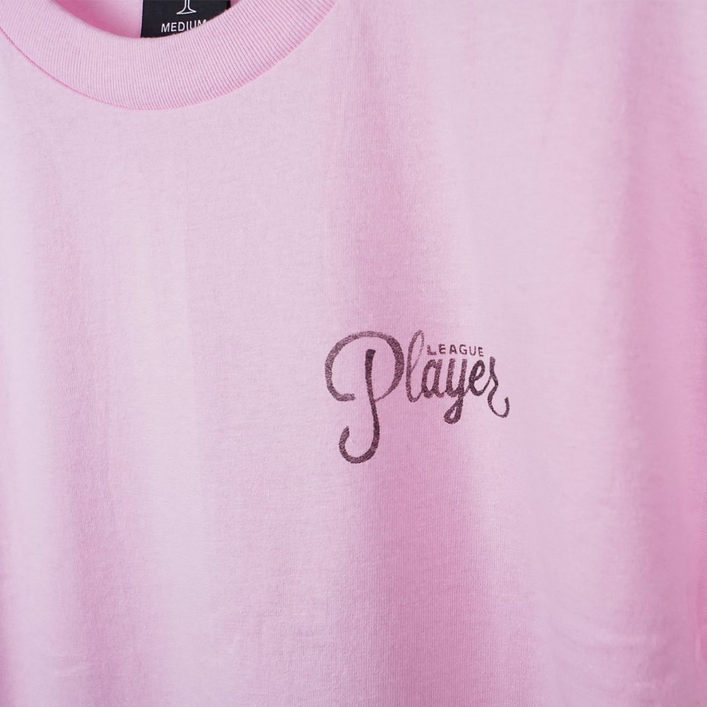 Alltimers Water color Logo Tee Pink Detail