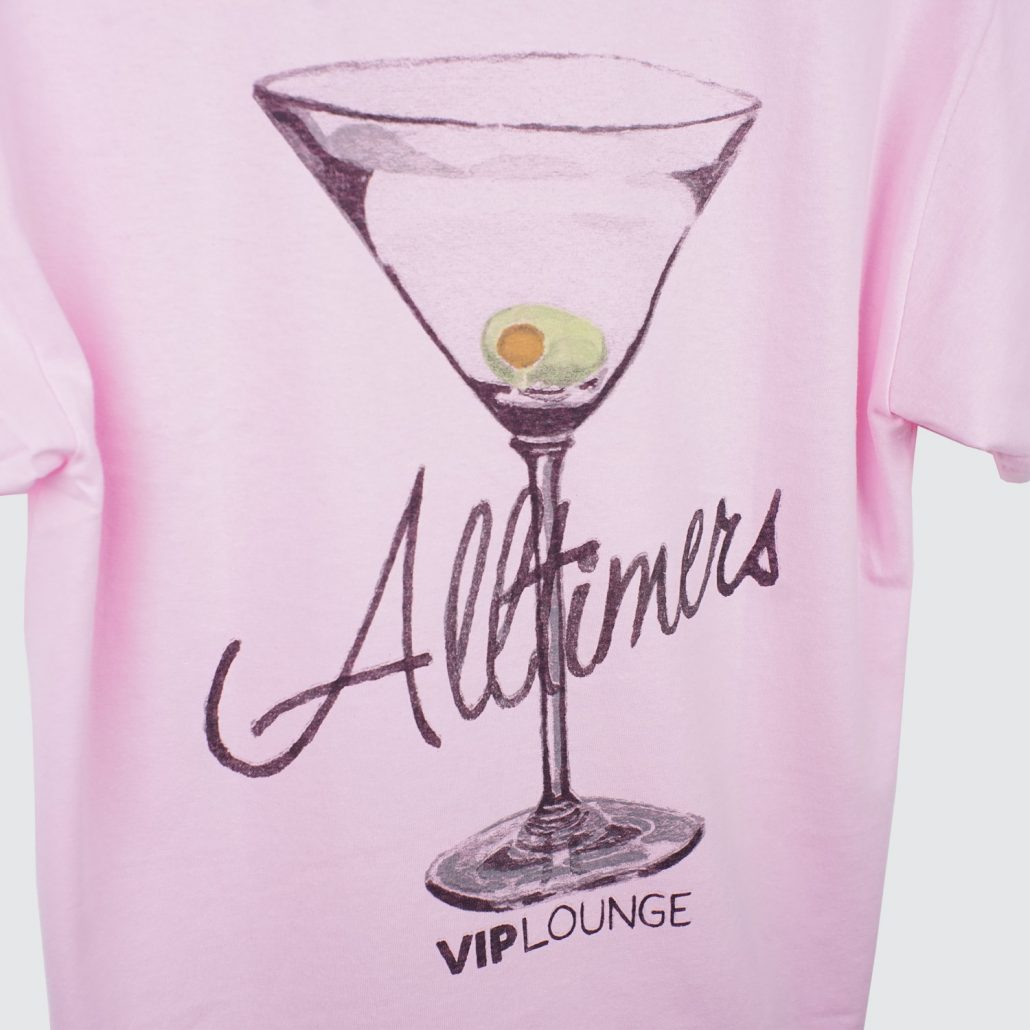 Alltimers Water color Logo Tee Pink Detail2