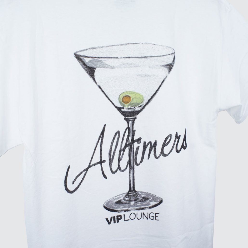 Alltimers Water color Logo Tee White Detail2