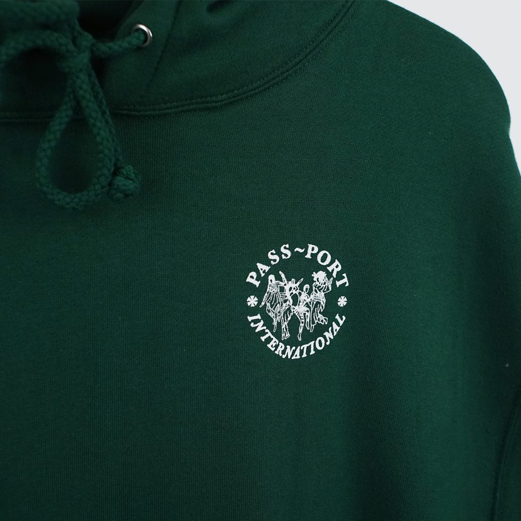 Passport International Ladies Hoody Forest Green Detail