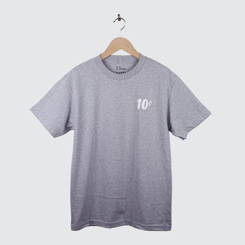 Dime X Quartersnacks T Shirt Heather Gray Lobby