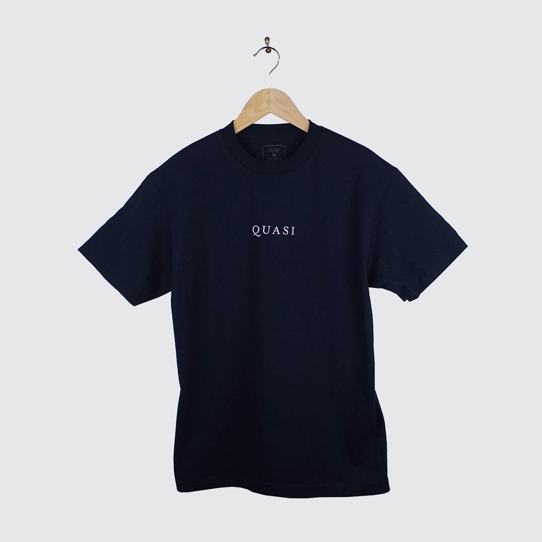 Quasi logo t shirt navy lobby for T shirts with logos