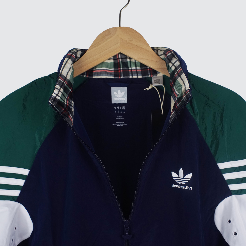 Adidas Lightweight Zip Track Jacket IndigoGreenWhite
