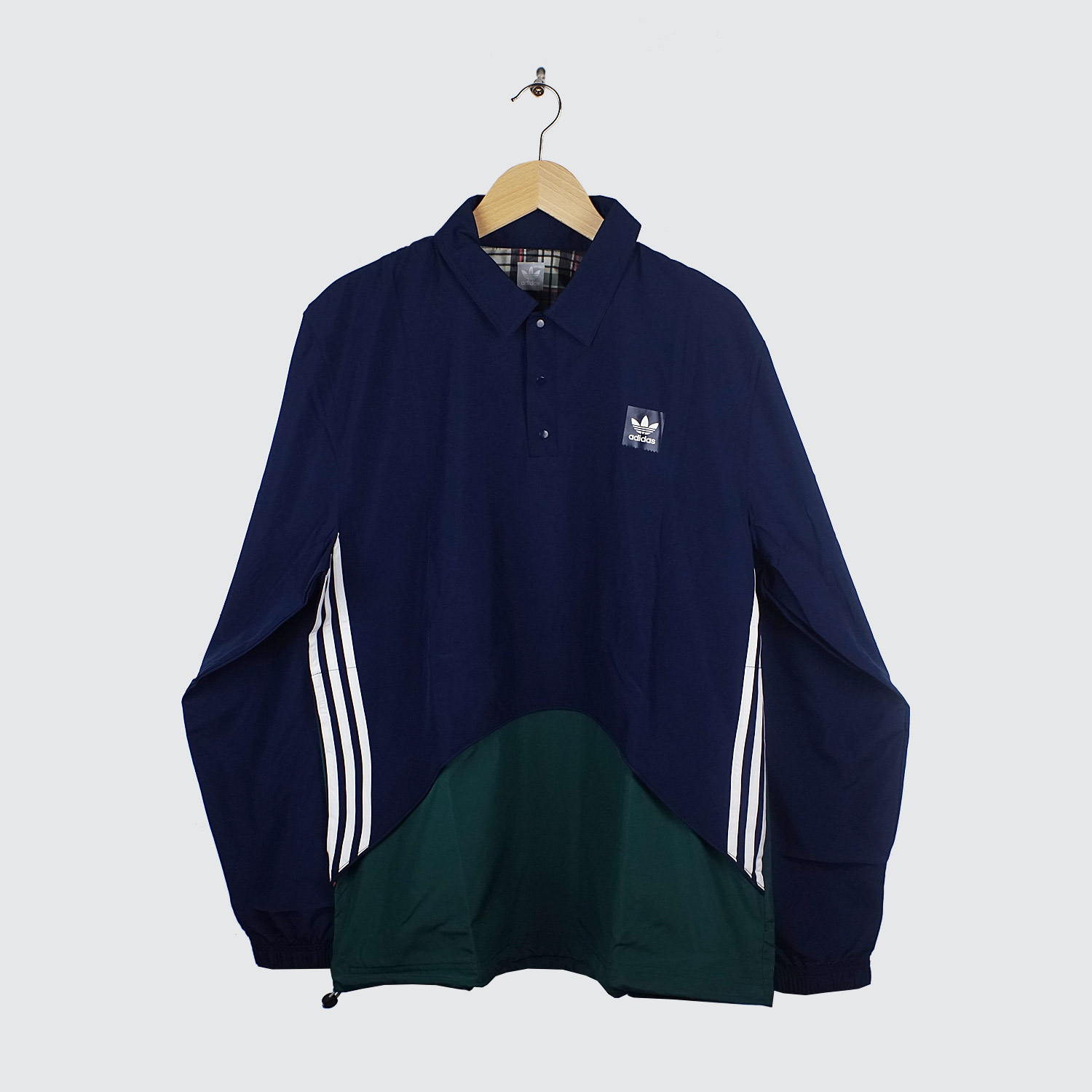 adidas pullover jacket indigo green lobby. Black Bedroom Furniture Sets. Home Design Ideas