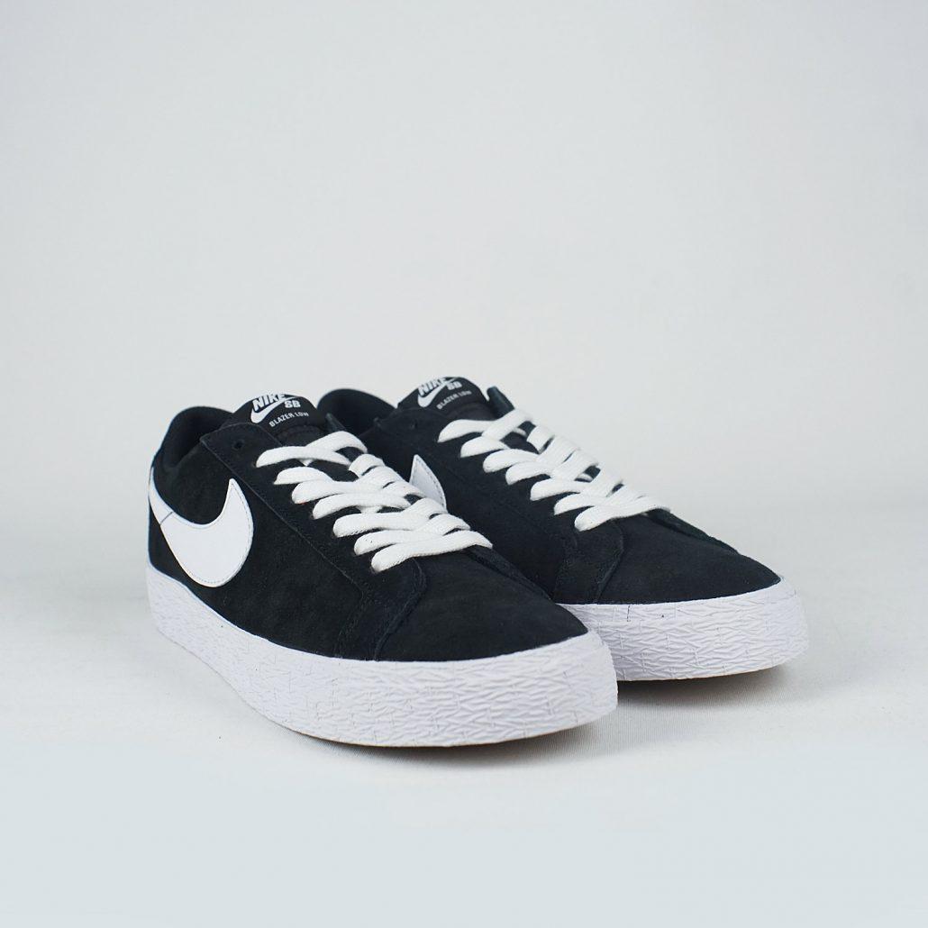 Nike Sb Zoom Blazer Low Black White Gum Light Brown Lobby
