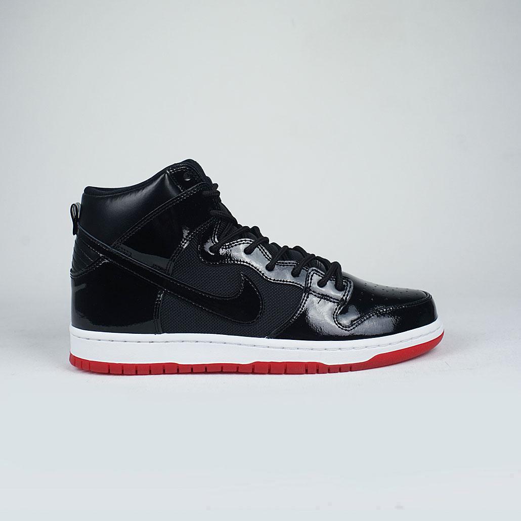 Nike SB Zoom Dunk High TR Bred QS Black Black White Varsity Red – LOBBY 1e325e0f3