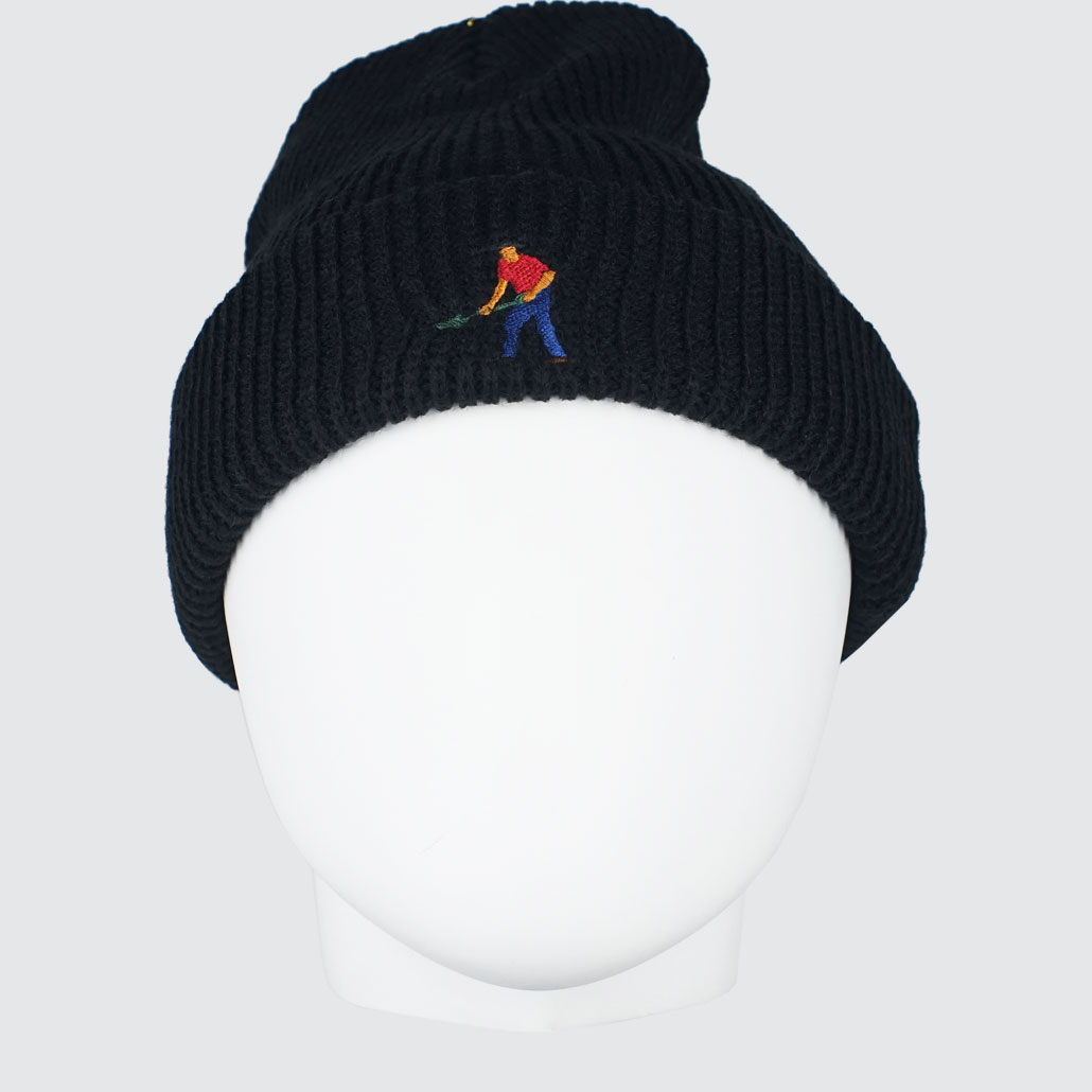 Passport-Full-Time-Emroidery-Beanie-Black