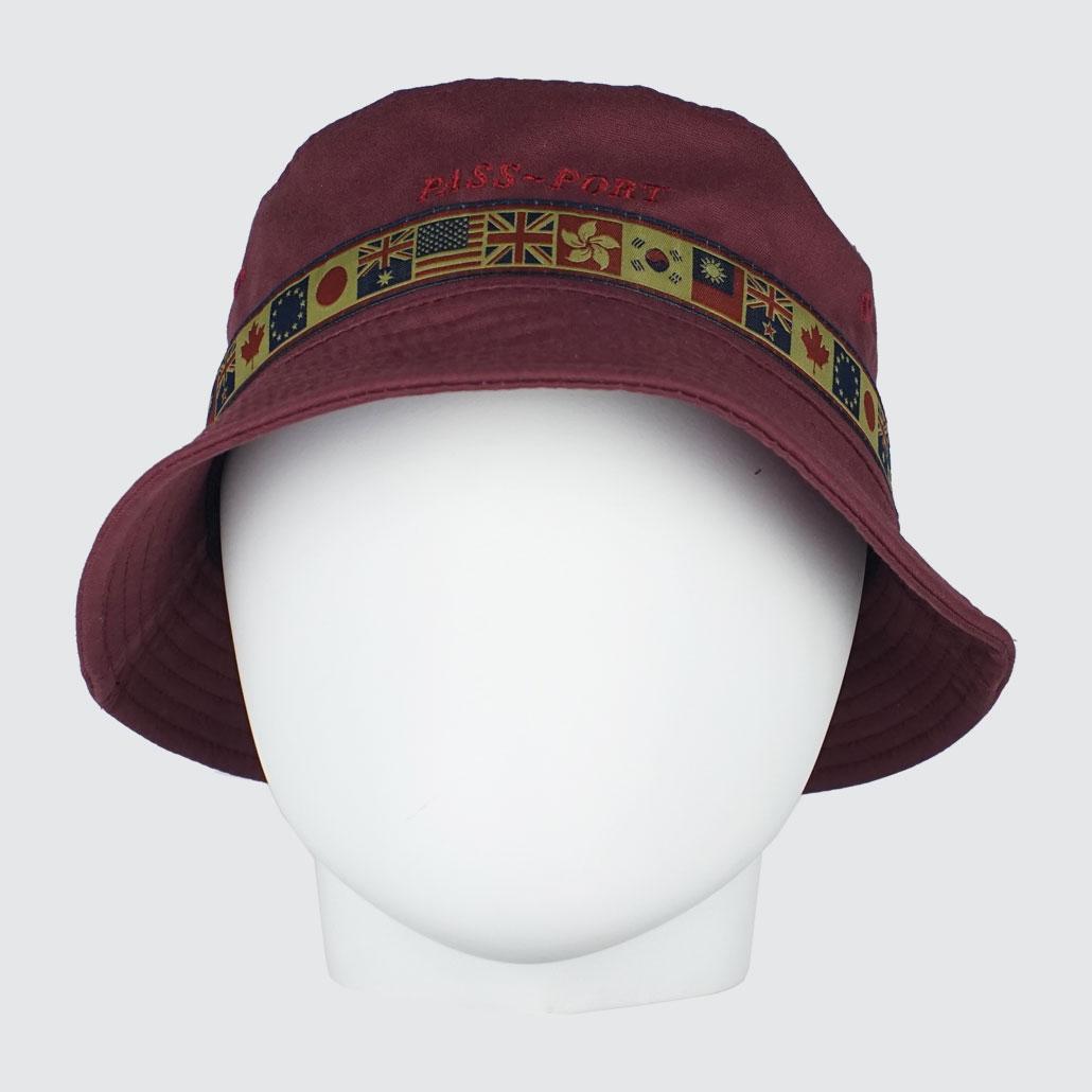 Passport-Inter-Solid-Bucket-Hat-Burgundy