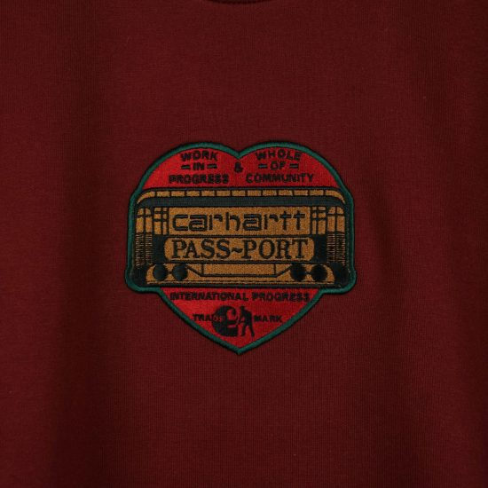 san francisco 0dbb6 2f200 Carhartt WIP x Pass~Port Thank You Sweatshirt Burnt Red